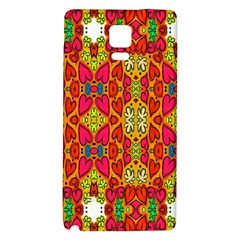 Abstract Background Design With Doodle Hearts Galaxy Note 4 Back Case