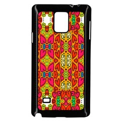 Abstract Background Design With Doodle Hearts Samsung Galaxy Note 4 Case (black)