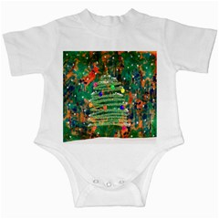 Watercolour Christmas Tree Painting Infant Creepers