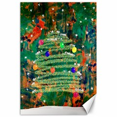 Watercolour Christmas Tree Painting Canvas 20  X 30