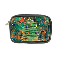 Watercolour Christmas Tree Painting Coin Purse