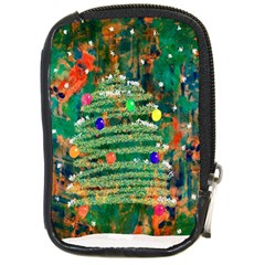 Watercolour Christmas Tree Painting Compact Camera Cases