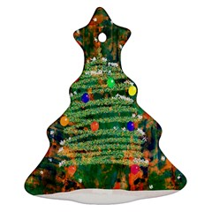 Watercolour Christmas Tree Painting Christmas Tree Ornament (two Sides)