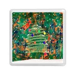 Watercolour Christmas Tree Painting Memory Card Reader (square)