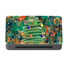 Watercolour Christmas Tree Painting Memory Card Reader with CF