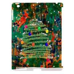 Watercolour Christmas Tree Painting Apple iPad 3/4 Hardshell Case (Compatible with Smart Cover)