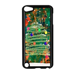 Watercolour Christmas Tree Painting Apple Ipod Touch 5 Case (black)