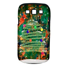 Watercolour Christmas Tree Painting Samsung Galaxy S III Classic Hardshell Case (PC+Silicone)