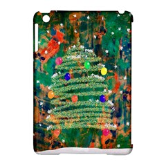 Watercolour Christmas Tree Painting Apple Ipad Mini Hardshell Case (compatible With Smart Cover)