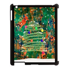 Watercolour Christmas Tree Painting Apple iPad 3/4 Case (Black)