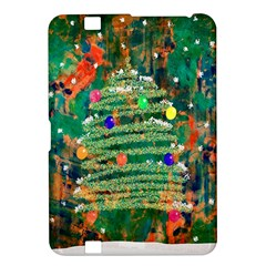 Watercolour Christmas Tree Painting Kindle Fire HD 8.9