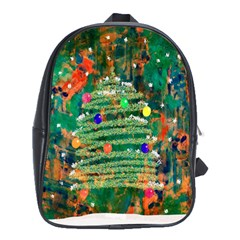 Watercolour Christmas Tree Painting School Bags (xl)