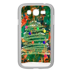 Watercolour Christmas Tree Painting Samsung Galaxy Grand DUOS I9082 Case (White)