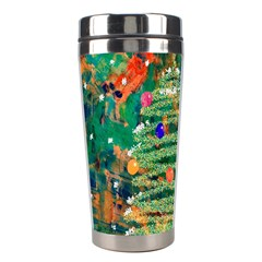 Watercolour Christmas Tree Painting Stainless Steel Travel Tumblers