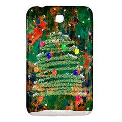Watercolour Christmas Tree Painting Samsung Galaxy Tab 3 (7 ) P3200 Hardshell Case
