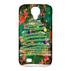 Watercolour Christmas Tree Painting Samsung Galaxy S4 Classic Hardshell Case (PC+Silicone)