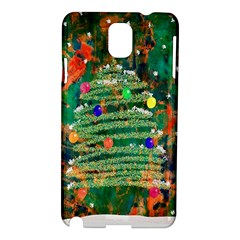 Watercolour Christmas Tree Painting Samsung Galaxy Note 3 N9005 Hardshell Case