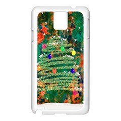 Watercolour Christmas Tree Painting Samsung Galaxy Note 3 N9005 Case (White)