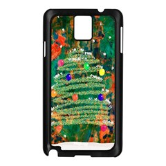 Watercolour Christmas Tree Painting Samsung Galaxy Note 3 N9005 Case (Black)