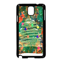 Watercolour Christmas Tree Painting Samsung Galaxy Note 3 Neo Hardshell Case (Black)