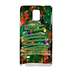 Watercolour Christmas Tree Painting Samsung Galaxy Note 4 Hardshell Case