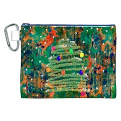 Watercolour Christmas Tree Painting Canvas Cosmetic Bag (XXL)