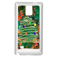 Watercolour Christmas Tree Painting Samsung Galaxy Note 4 Case (White)