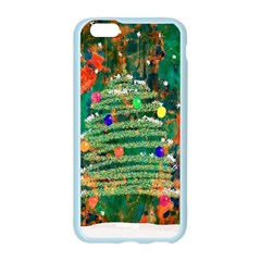 Watercolour Christmas Tree Painting Apple Seamless iPhone 6/6S Case (Color)