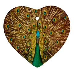 Peacock Bird Feathers Ornament (heart)
