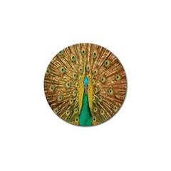 Peacock Bird Feathers Golf Ball Marker