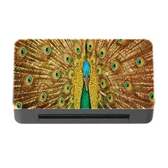Peacock Bird Feathers Memory Card Reader with CF