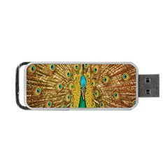 Peacock Bird Feathers Portable USB Flash (One Side)