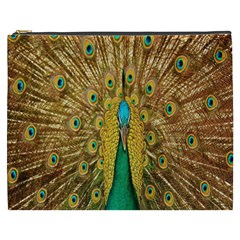 Peacock Bird Feathers Cosmetic Bag (XXXL)