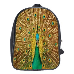 Peacock Bird Feathers School Bags (XL)