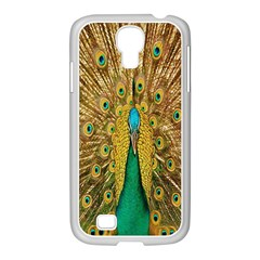 Peacock Bird Feathers Samsung GALAXY S4 I9500/ I9505 Case (White)