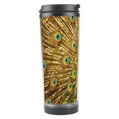 Peacock Bird Feathers Travel Tumbler