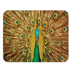 Peacock Bird Feathers Double Sided Flano Blanket (large)