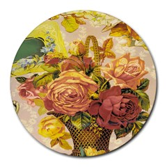 Victorian Background Round Mousepads