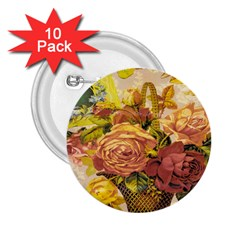 Victorian Background 2.25  Buttons (10 pack)