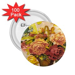 Victorian Background 2 25  Buttons (100 Pack)