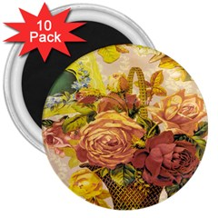 Victorian Background 3  Magnets (10 pack)