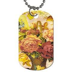 Victorian Background Dog Tag (Two Sides)