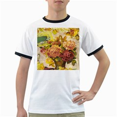 Victorian Background Ringer T-Shirts