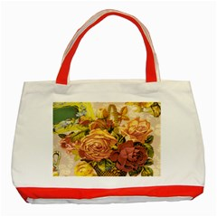 Victorian Background Classic Tote Bag (red)