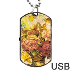 Victorian Background Dog Tag Usb Flash (two Sides)