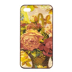 Victorian Background Apple iPhone 4/4s Seamless Case (Black)