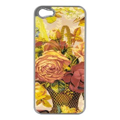 Victorian Background Apple iPhone 5 Case (Silver)