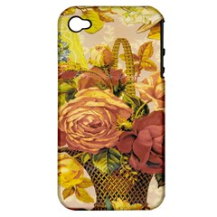 Victorian Background Apple iPhone 4/4S Hardshell Case (PC+Silicone)