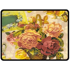 Victorian Background Double Sided Fleece Blanket (Large)