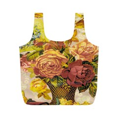Victorian Background Full Print Recycle Bags (m)